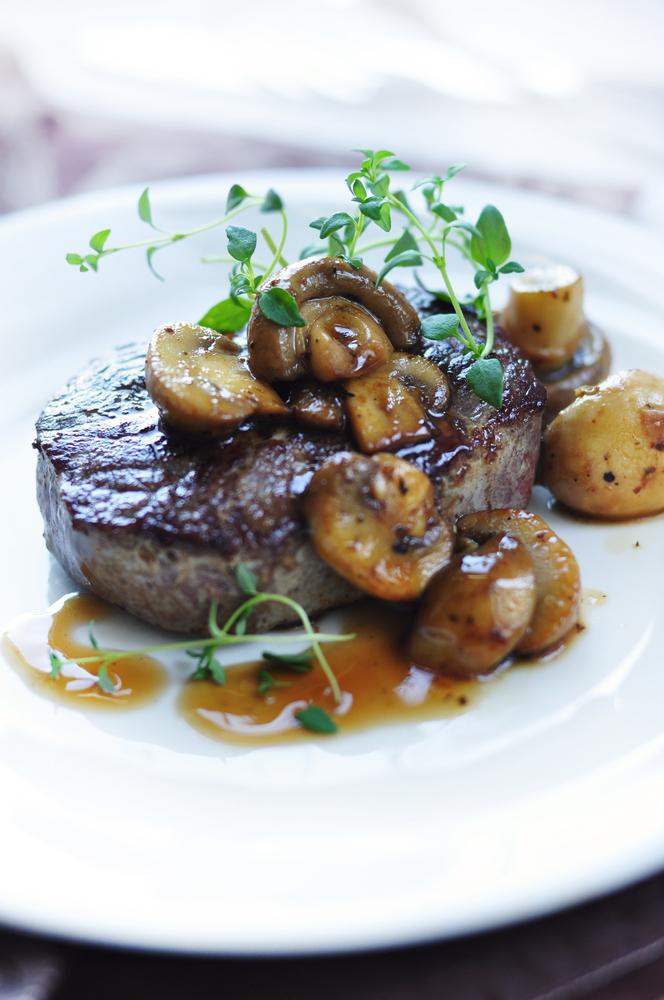 Grilled Sirloin Steak with Mushroom-Wine Sauce - BigOven