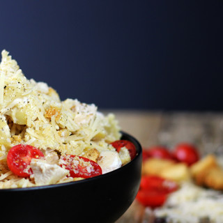 5 Minute Chicken Caesar Pasta Salad