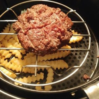 Air Fryer Burger and Fries