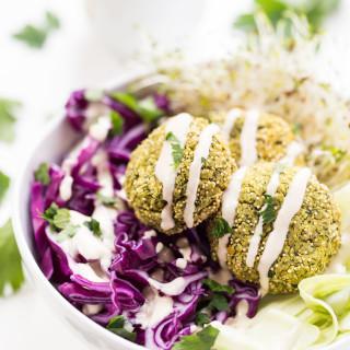 Amaranth Baked Vegan Falafel
