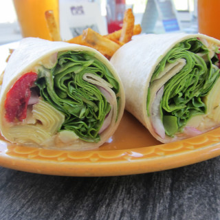 Artichoke, Spinach and Hummus wrap