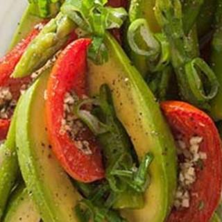 Asparagus, Avocado and Slow-Roasted Tomato Salad