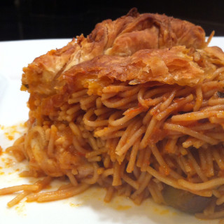 Baked Angel Hair Timbale