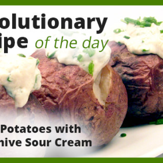 Baked Potatoes with Tofu Chive Sour Cream