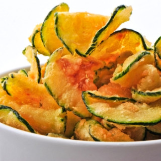Baked Zucchini Chips with Paprika and Sea Salt