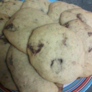 Banana Cookies w/ Chocolate Candies