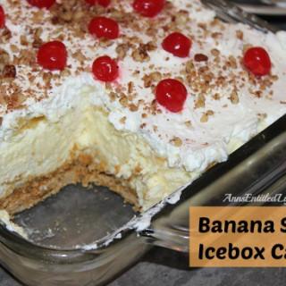 Banana Split Icebox Cake