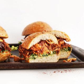 BBQ Jackfruit Sandwiches with Avocado Slaw