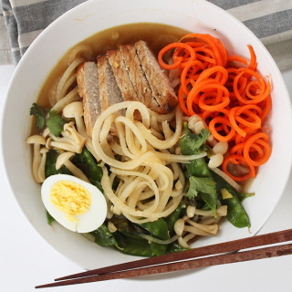 "BBQ Pork Turnip Noodle ""Ramen"" for Two"