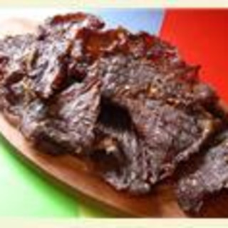 Beef jerky cowboy style (torkat kött)