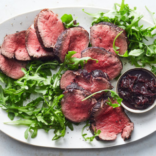 Beef Tenderloin With Red Wine, Anchovies, Garlic and Thyme