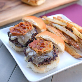 Beef, Vermont White Cheddar, and Pancetta Sliders