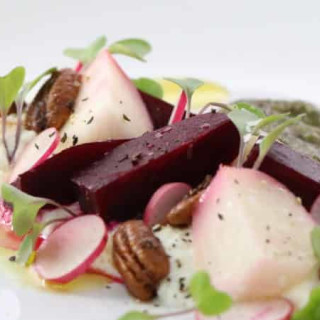 Beet Salad with Candied Pecans