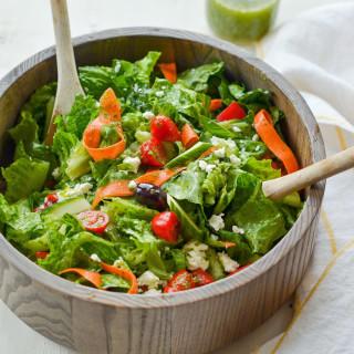 Big Italian Salad with Homemade Italian Dressing