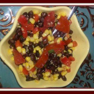 Black Bean Corn Salad and Sweet Lime Dressing