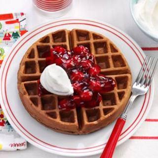 Black Forest Waffles Recipe