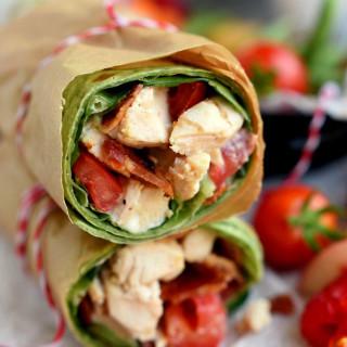 BLT Chicken Caesar Salad Wrap