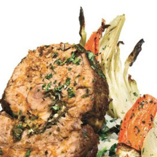 Braised Veal Shoulder with Gremolata and Tomato-Olive Sauce
