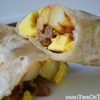 Breakfast Burrito Bonanza – A Freezer Meal Idea