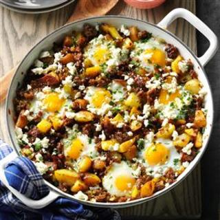 Brunch Hash  and  Egg Bake Recipe