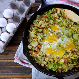 Brussel Sprout, Potato and Chicken Sausage Hash