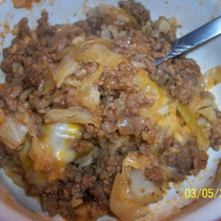 Cabbage Beef Casserole (Ww 5 Points)