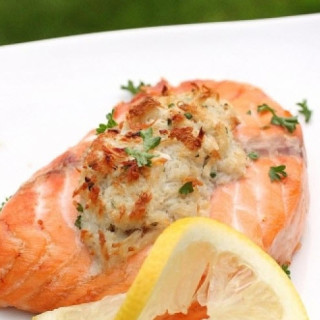 Camping - Stuffed Salmon