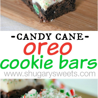 Candy Cane Oreo Cookie Bars
