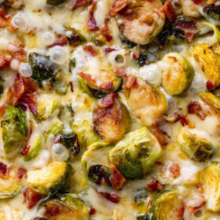 Cheesy Brussels Sprout Bake