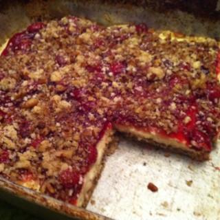 Cherry Walnut Cheesecake