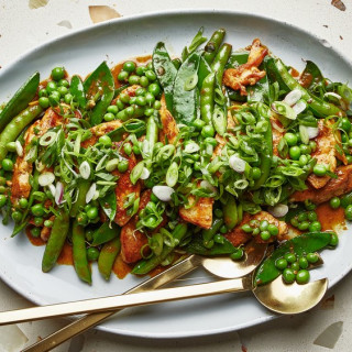 Chicken and Beans Stir-Fry with Miso Curry