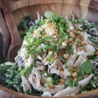 Chicken and Kale Salad with Peanut Vinaigrette