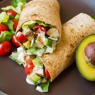 Chicken Avocado Caesar Salad Wrap