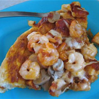 Chile Rubbed Shrimp Vera Cruz Pizza