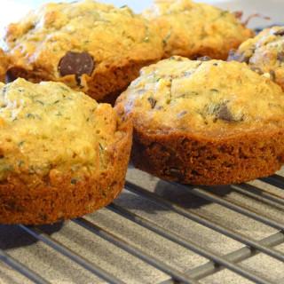 Chocolate Chip Orange Zucchini Muffins with Walnuts