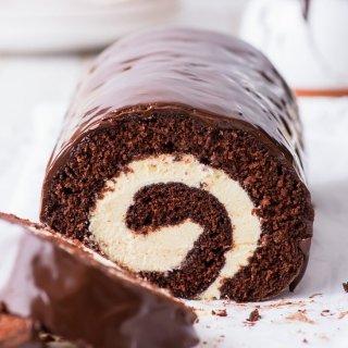 Chocolate Swiss Roll (Gluten Free)