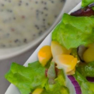 Chopped Salad with Buttermilk Poppy Seed Dressing