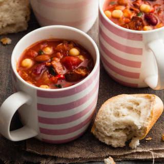 Chunky chorizo, thyme and bean stew
