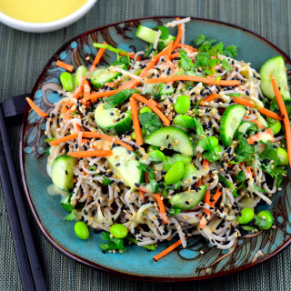 Cold Soba Noodles With White Miso Dressing