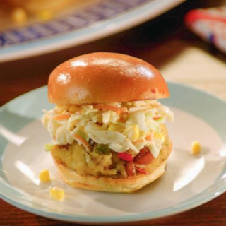 Crab-Boil Sliders with Homemade Coleslaw