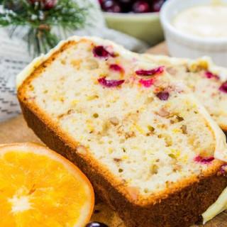 Cranberry-Walnut Bread with Orange Glaze