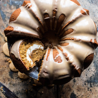 Cream Cheese Swirled Brown Sugar Pumpkin Coffee Cake