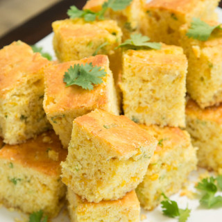 Creamed Cornbread with Jalapeno Butter