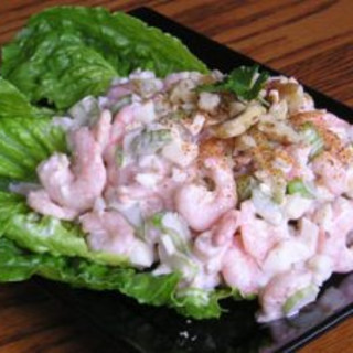 Creamy Shrimp Salad On Romaine