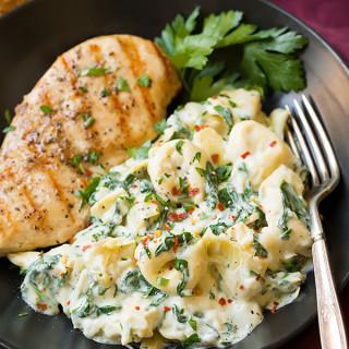 Creamy Spinach Artichoke Tortellini