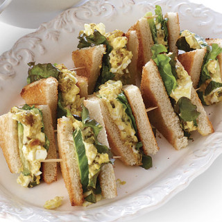 Curried Egg Salad and Cucumber Sandwiches