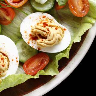 Deviled eggs with Original Tofu Spread