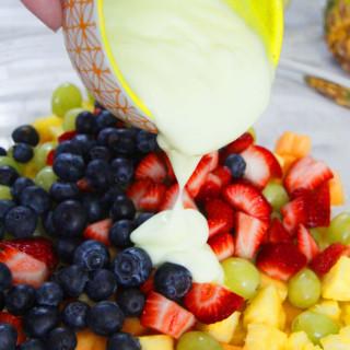 EASY Key Lime Honey Almond Granola Fruit Salad