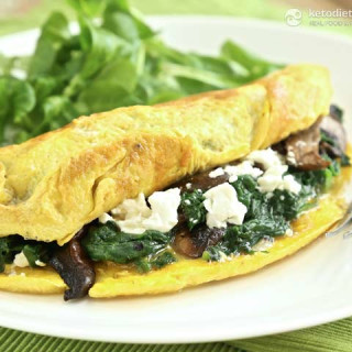 Easy Spinach and Feta Omelet