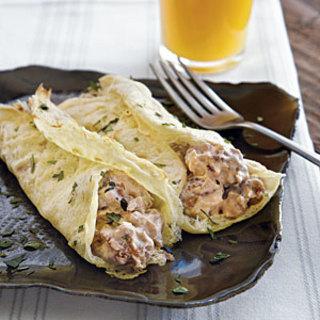 Egg Crepes with Sausage